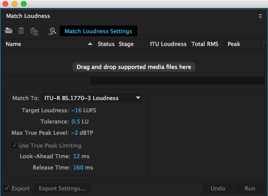 Adobe Audition Match Loudness