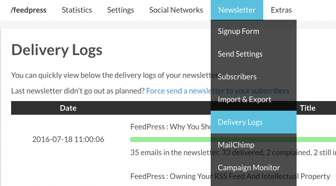 Delivery Logs