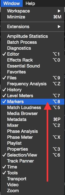 enable marker window