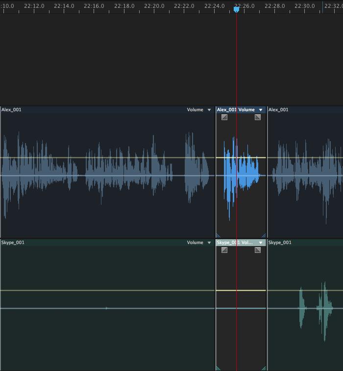 multi-track edits