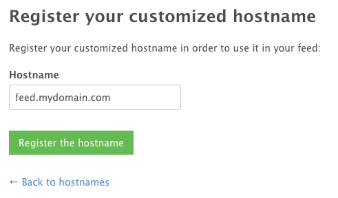 hostname entry field
